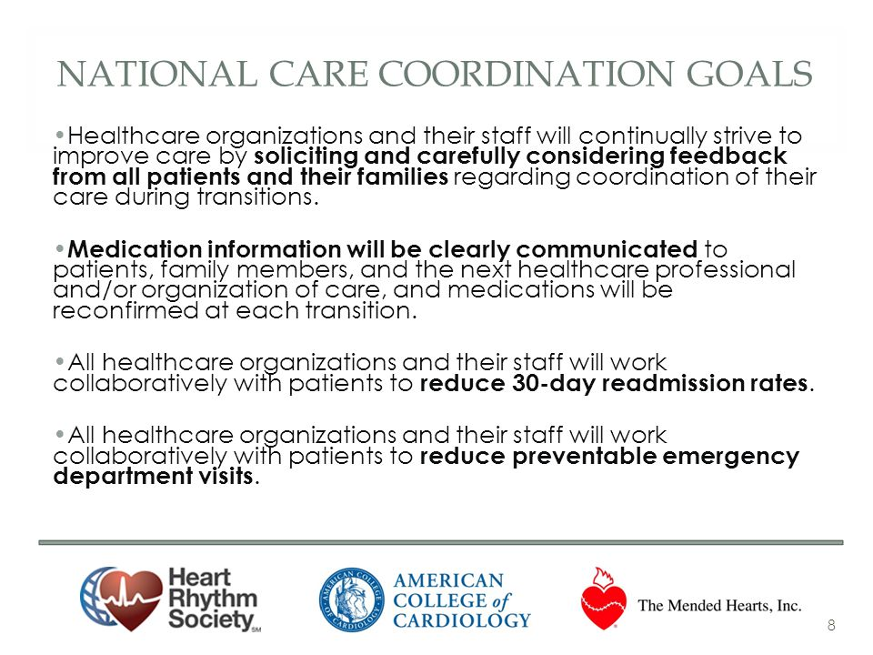 National care coordination goals