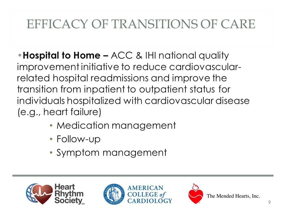 Efficacy of transitions of care