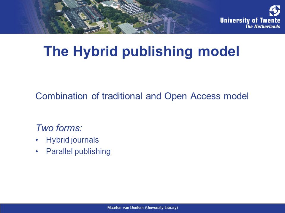 The Hybrid publishing model