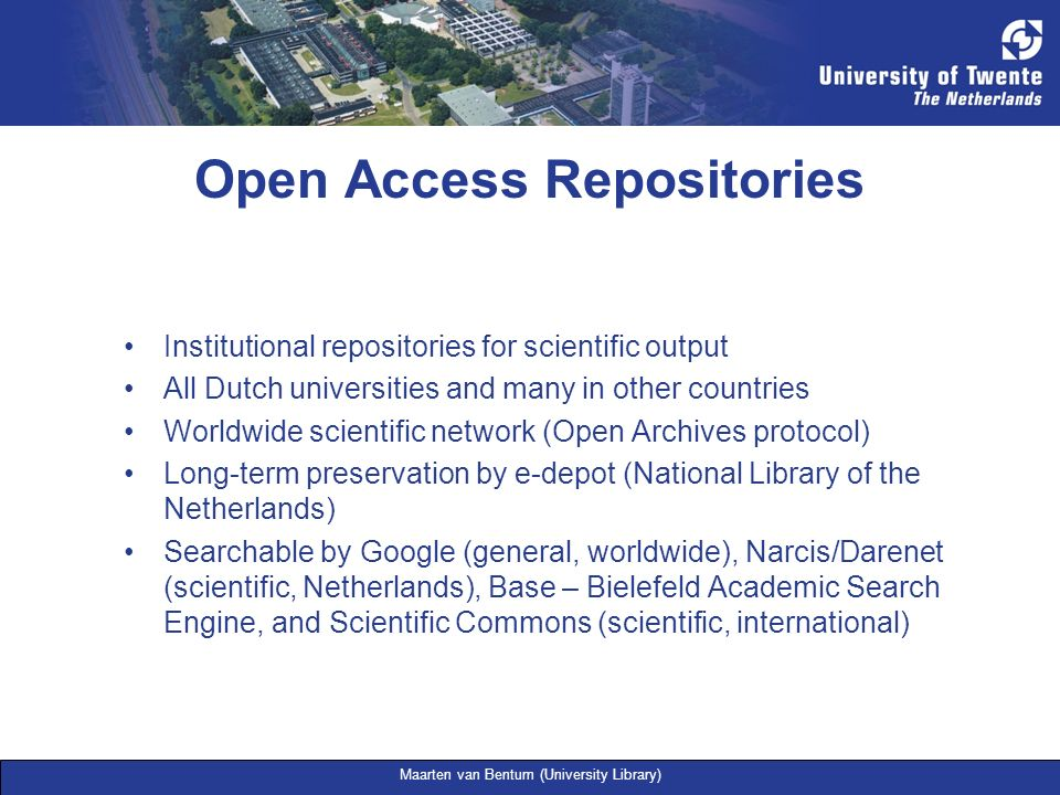 Open Access Repositories