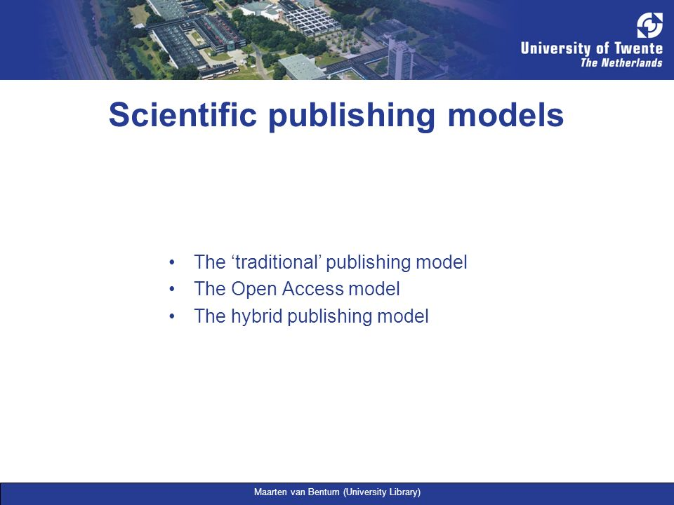 Scientific publishing models