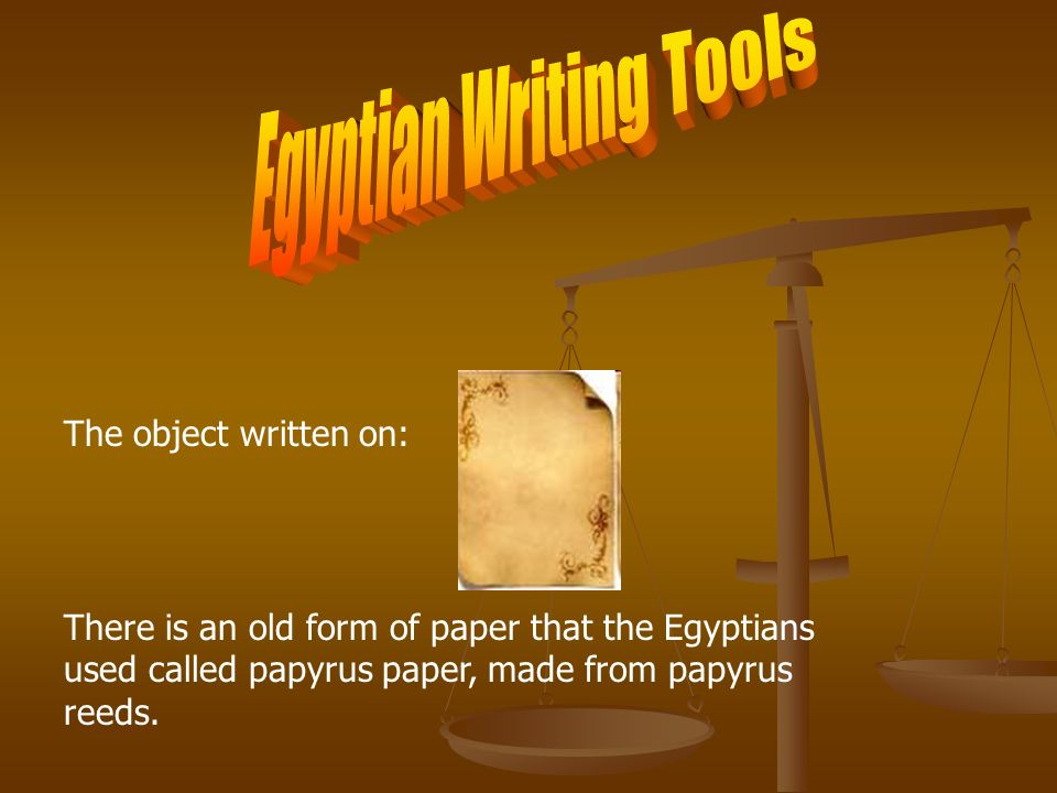 Egyptian Writing Tools
