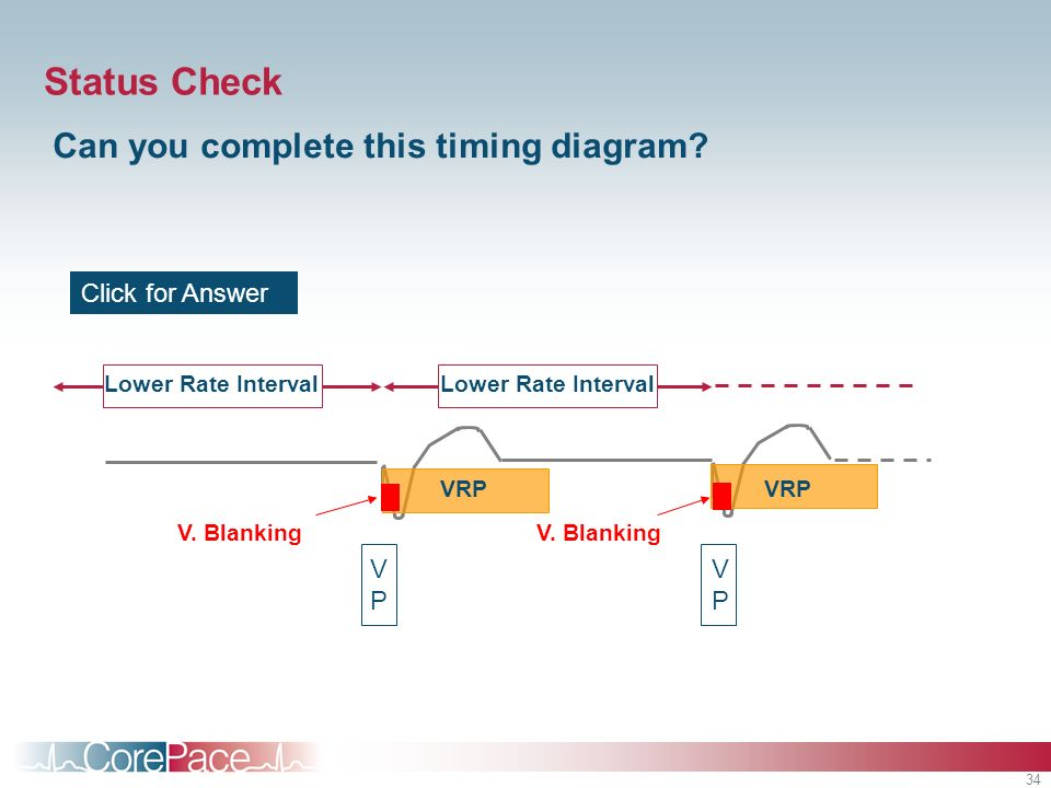 Status Check Can you complete this timing diagram Click for Answer VP