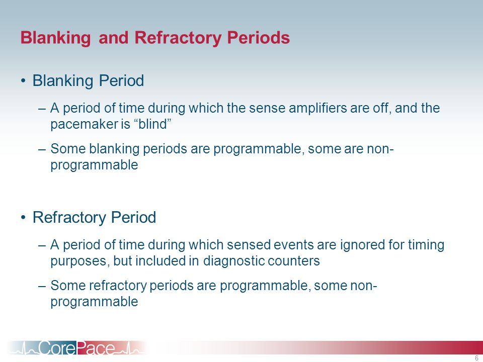 Blanking and Refractory Periods