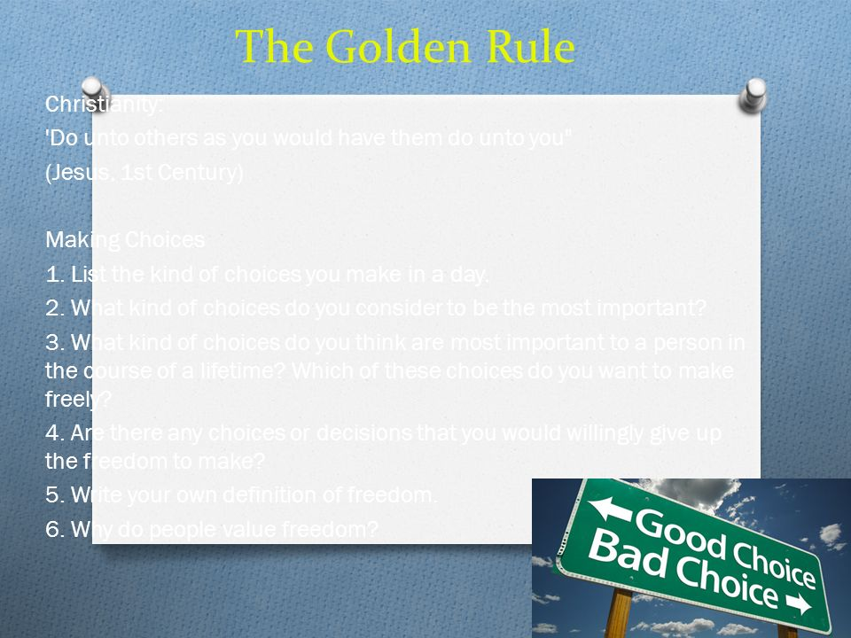 The Golden Rule Christianity: