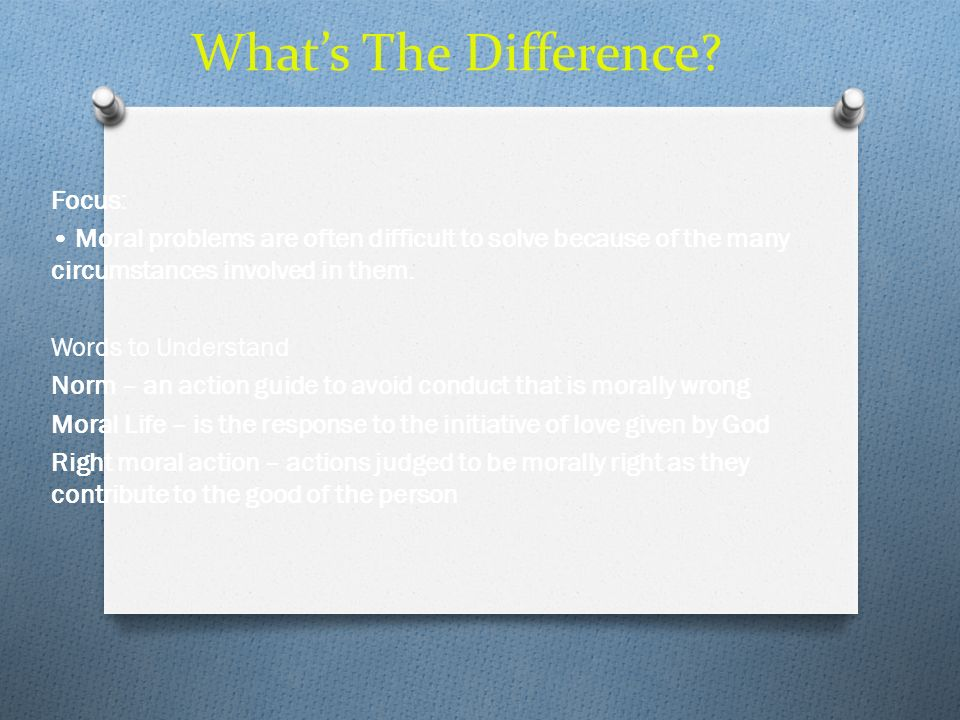 What's The Difference Focus: