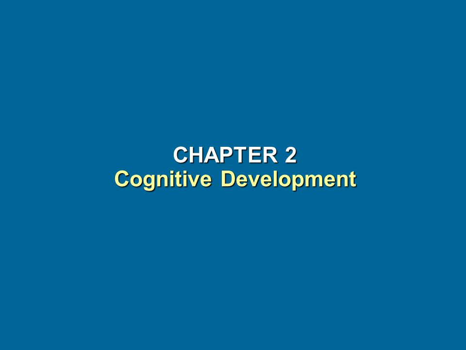 CHAPTER 2 Cognitive Development