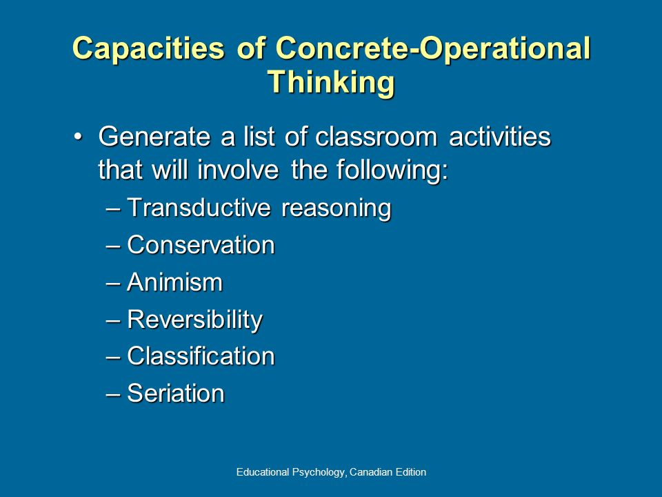Capacities of Concrete-Operational Thinking