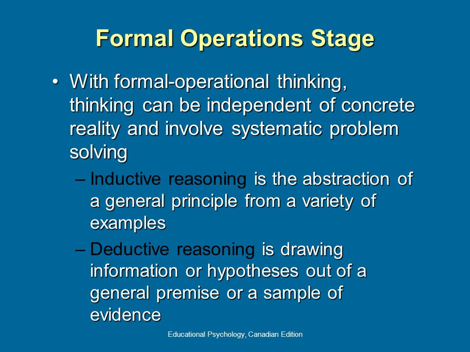 Formal Operations Stage