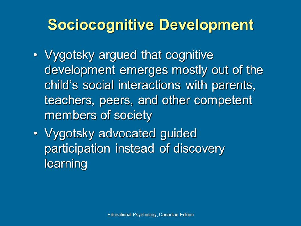 Sociocognitive Development