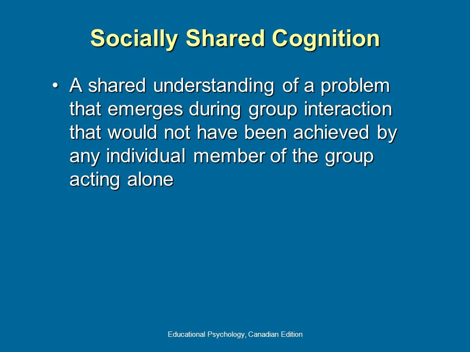 Socially Shared Cognition
