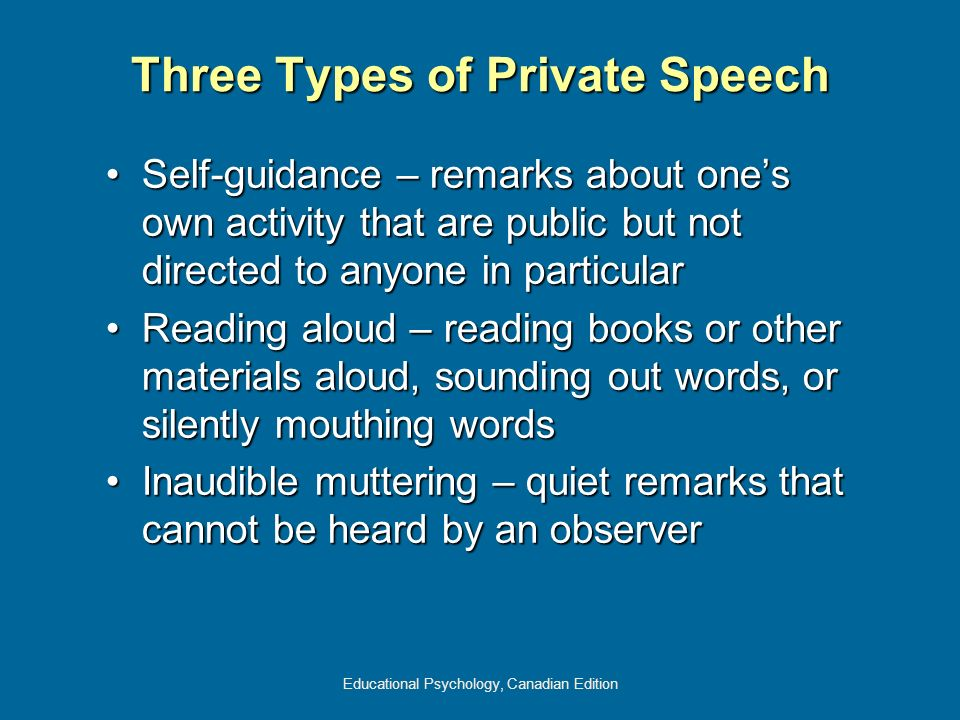 Three Types of Private Speech