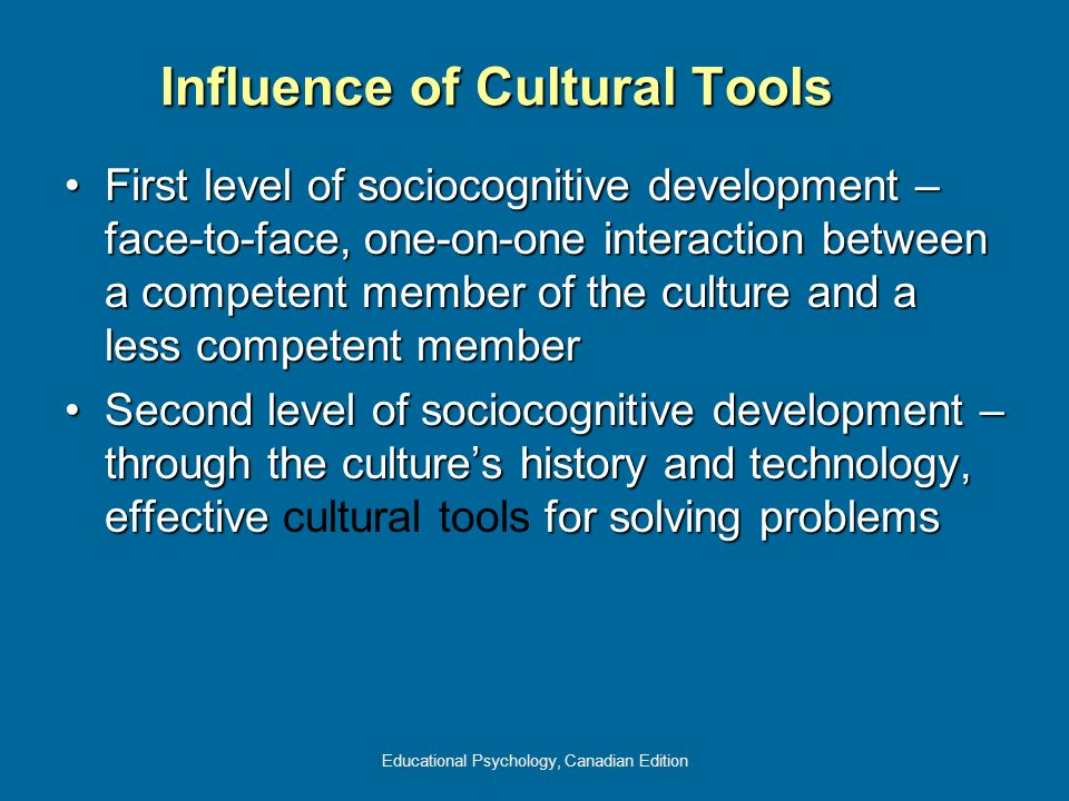 Influence of Cultural Tools