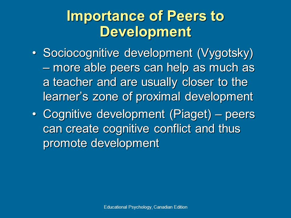 Importance of Peers to Development