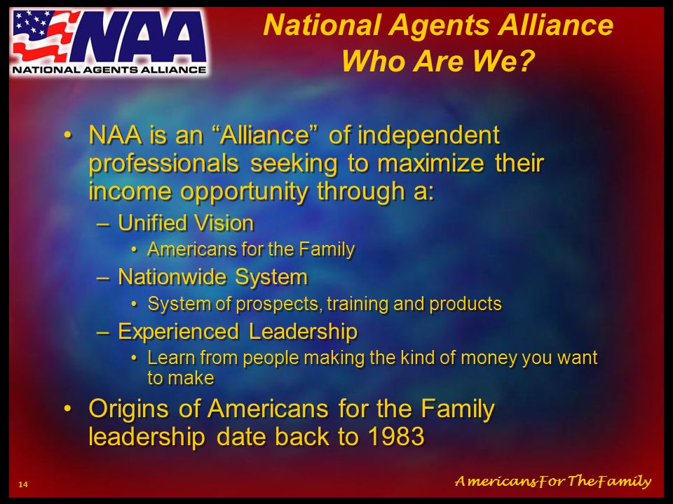 National Agents Alliance Who Are We