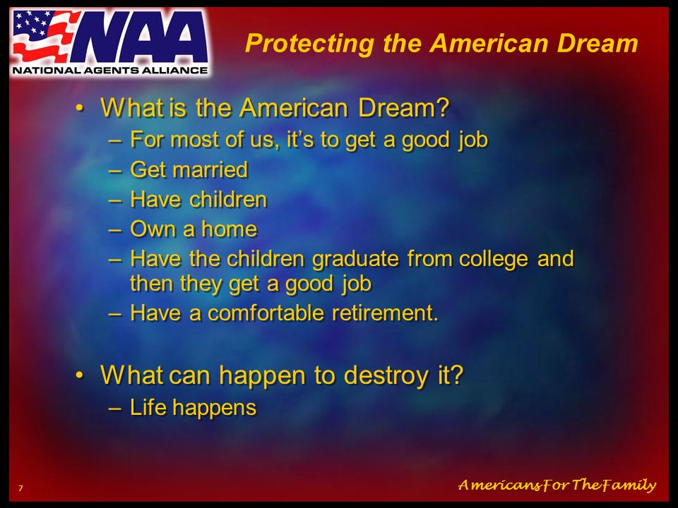 Protecting the American Dream