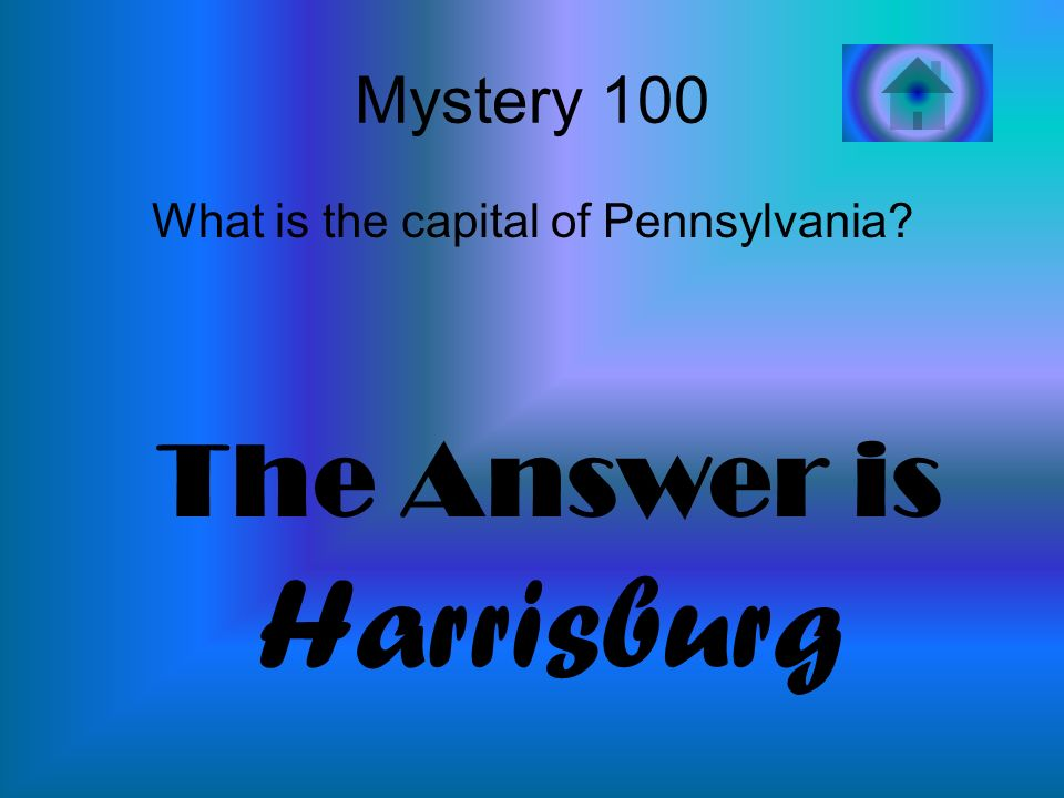 What is the capital of Pennsylvania
