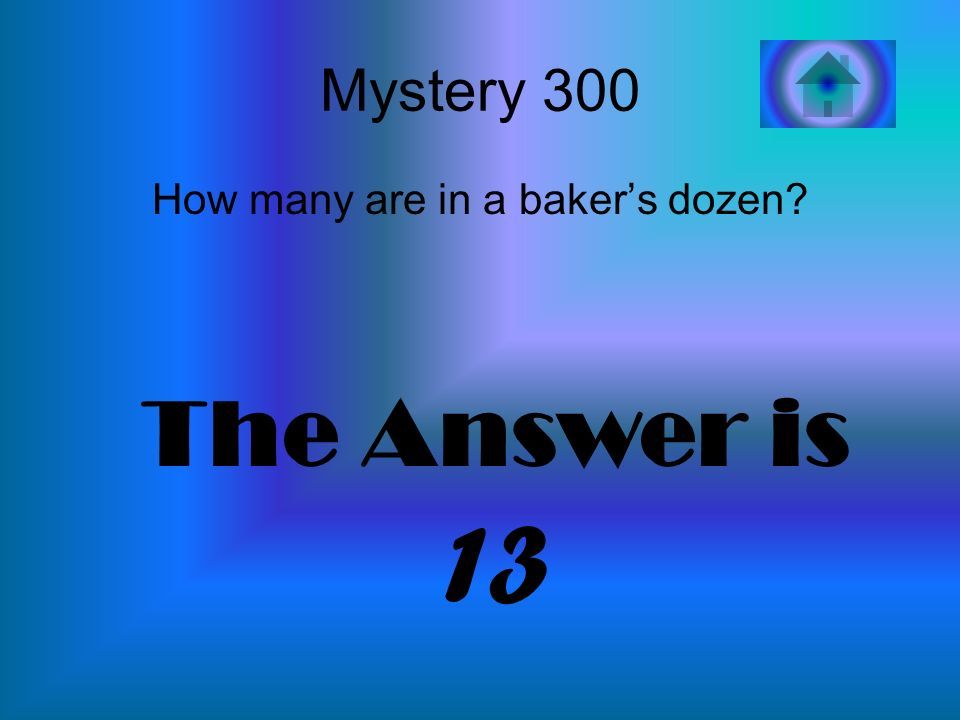 How many are in a baker's dozen