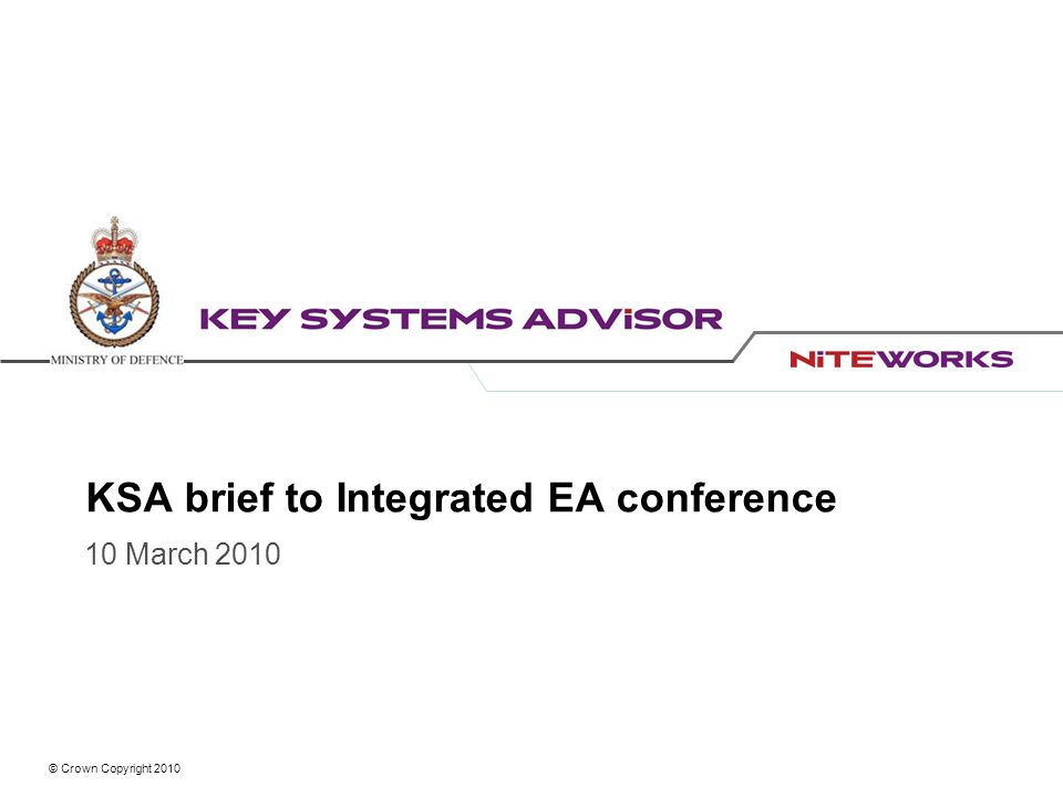 KSA brief to Integrated EA conference