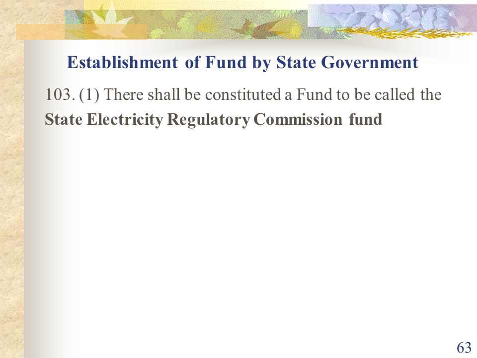 Establishment of Fund by State Government