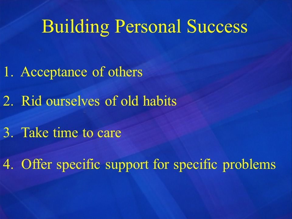 Building Personal Success