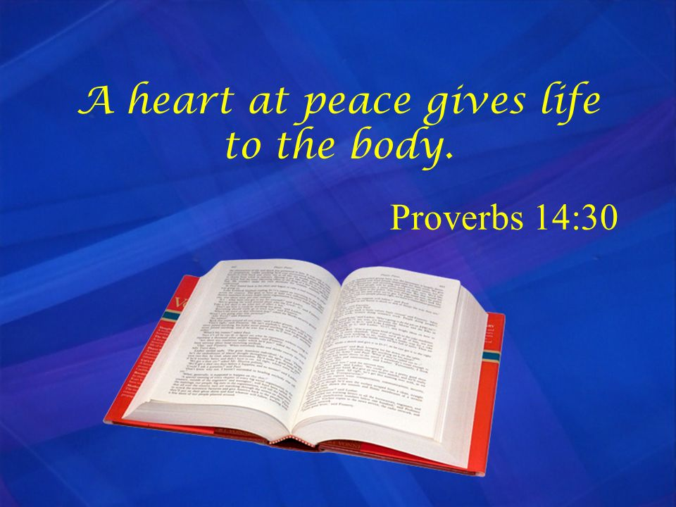 A heart at peace gives life to the body.
