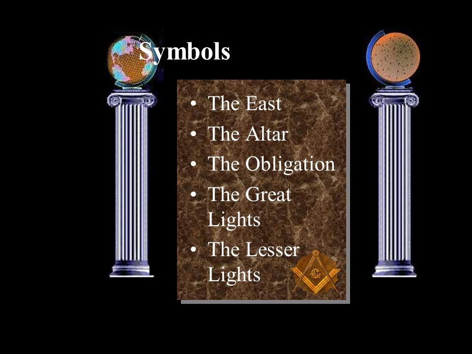 Symbols The East The Altar The Obligation The Great Lights