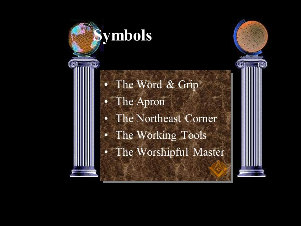 Symbols The Word & Grip The Apron The Northeast Corner