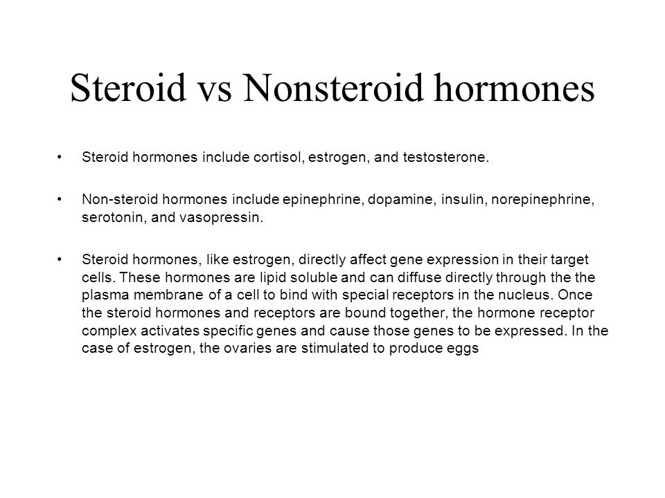Steroid vs Nonsteroid hormones