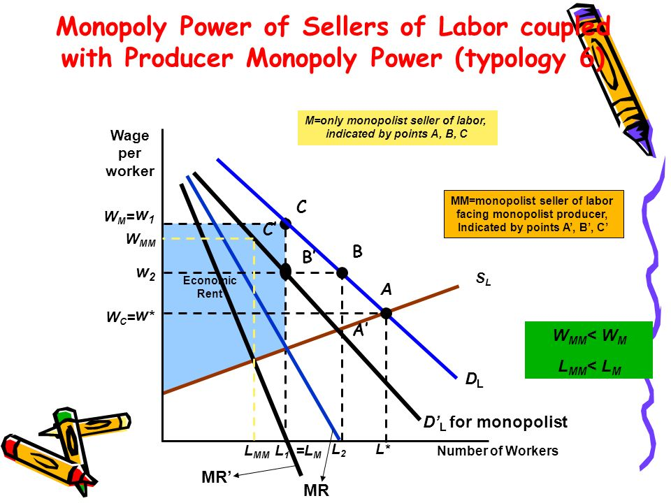 Monopoly Power of Sellers of Labor coupled with Producer Monopoly Power (typology 6)