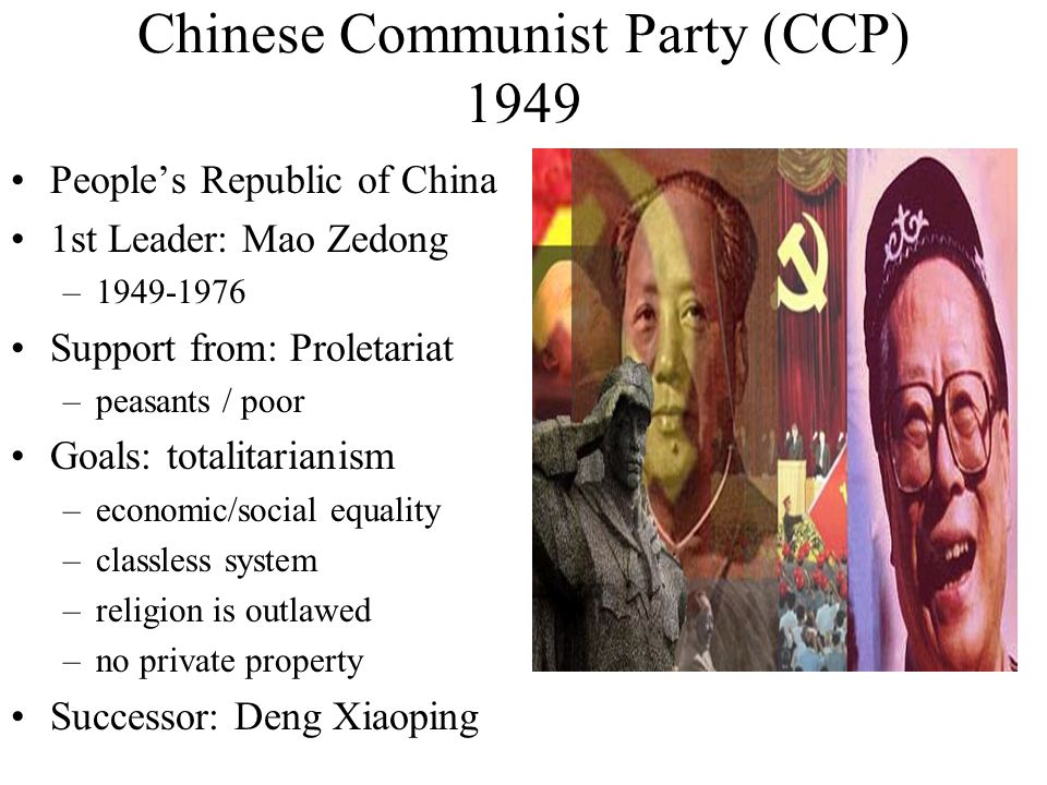 Chinese Communist Party (CCP) 1949