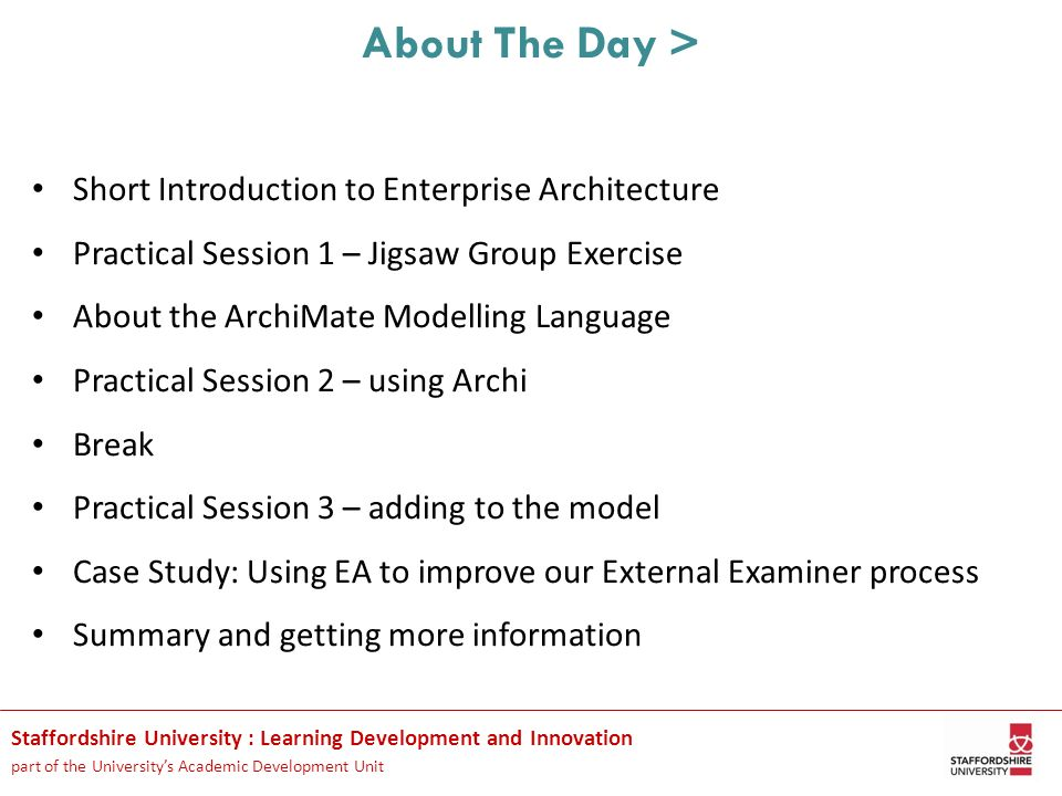 About The Day > Short Introduction to Enterprise Architecture