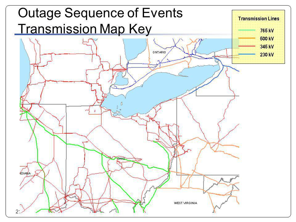 Outage Sequence of Events Transmission Map Key
