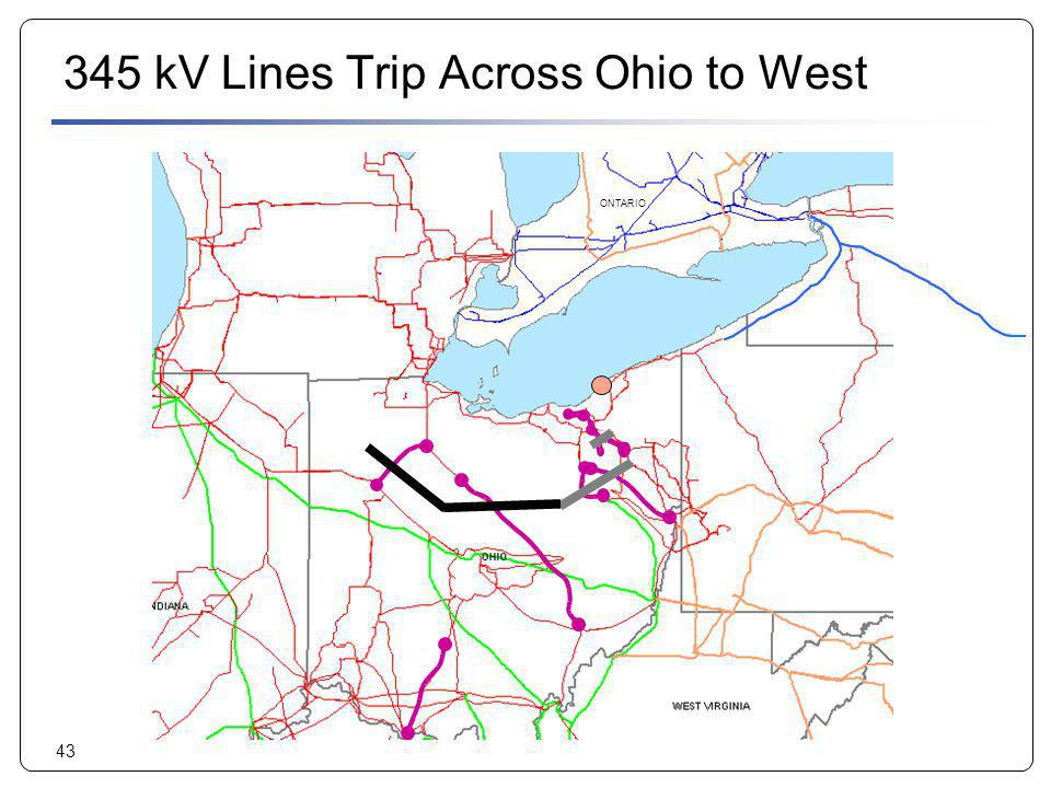 345 kV Lines Trip Across Ohio to West