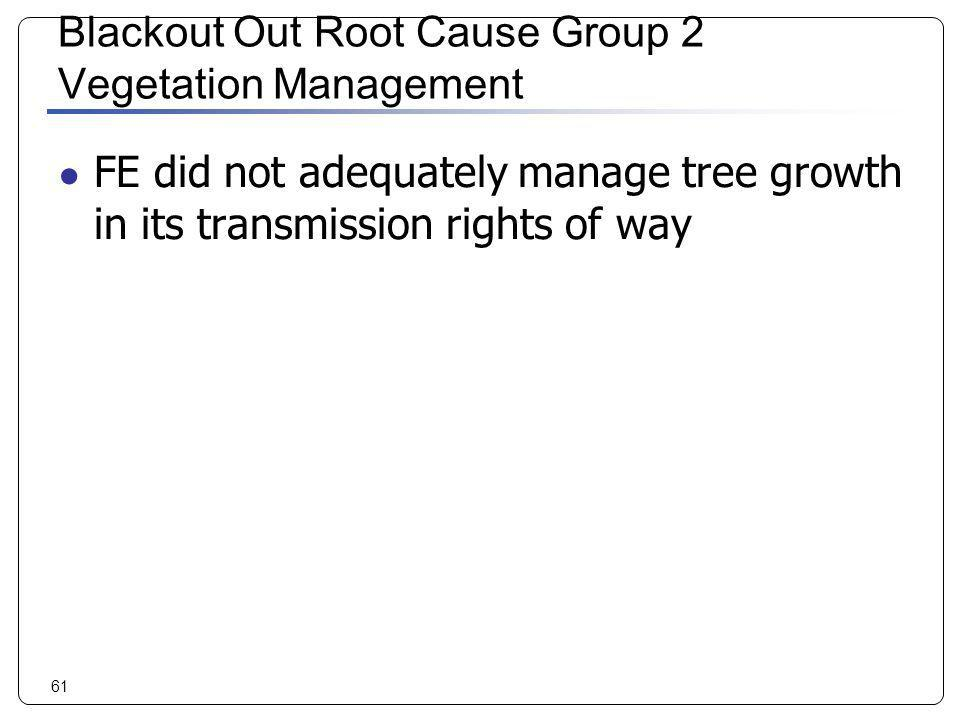 Blackout Out Root Cause Group 2 Vegetation Management