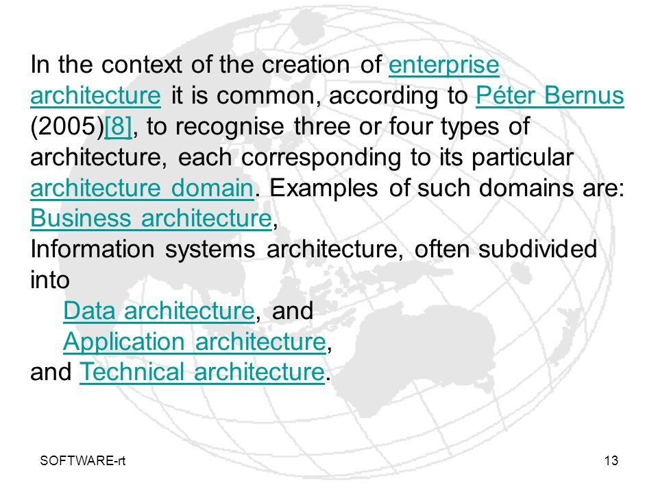 Business architecture,