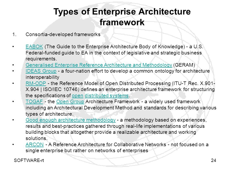 Types of Enterprise Architecture framework