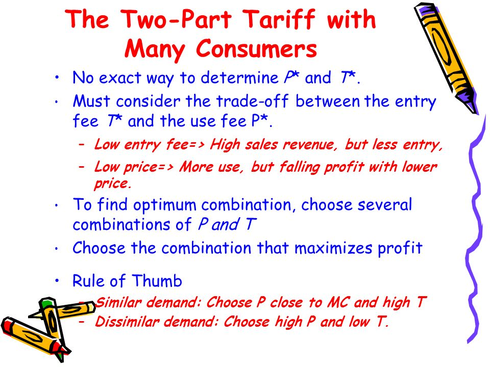The Two-Part Tariff with Many Consumers