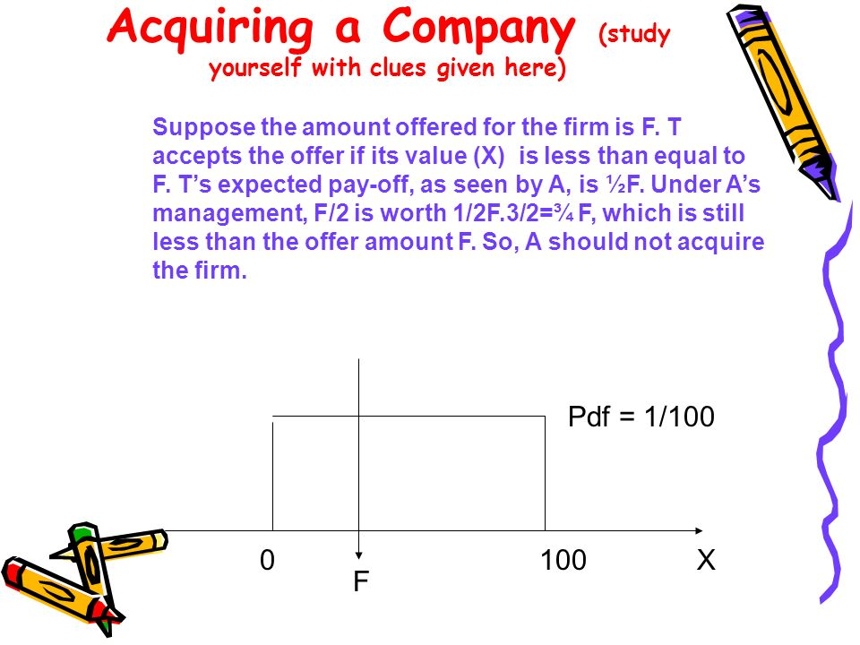 Acquiring a Company (study yourself with clues given here)