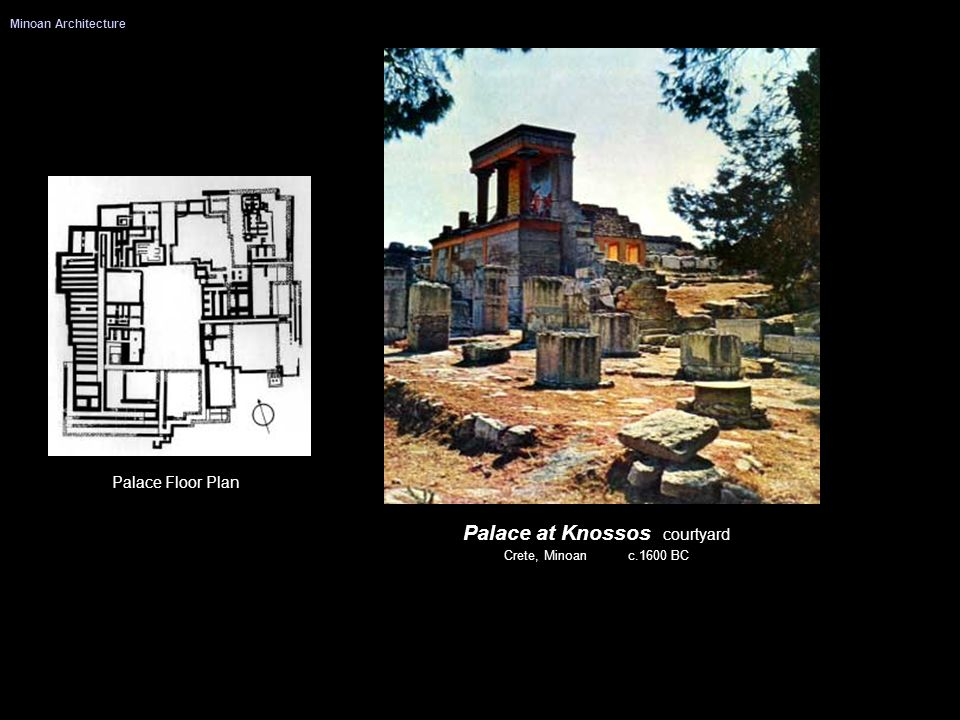 Palace at Knossos courtyard