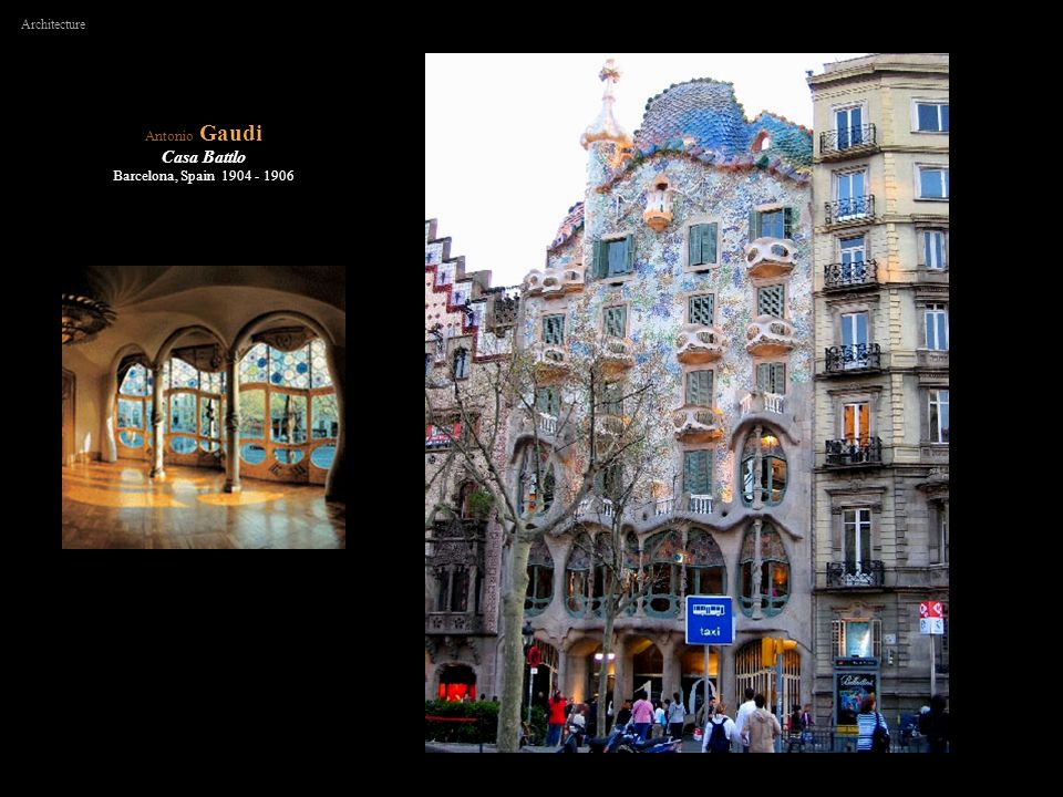 Architecture Antonio Gaudi Casa Battlo Barcelona, Spain