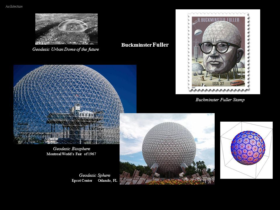 Buckminster Fuller Geodesic Urban Dome of the future