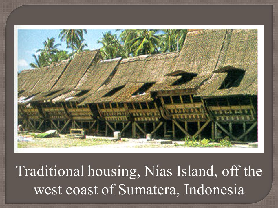 Traditional housing, Nias Island, off the west coast of Sumatera, Indonesia
