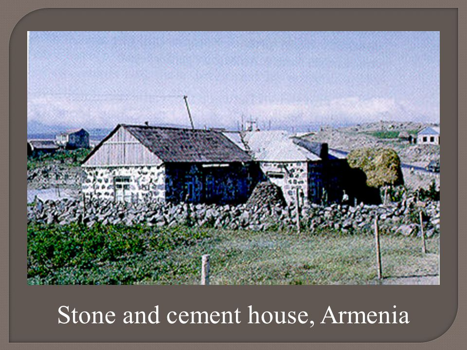 Stone and cement house, Armenia