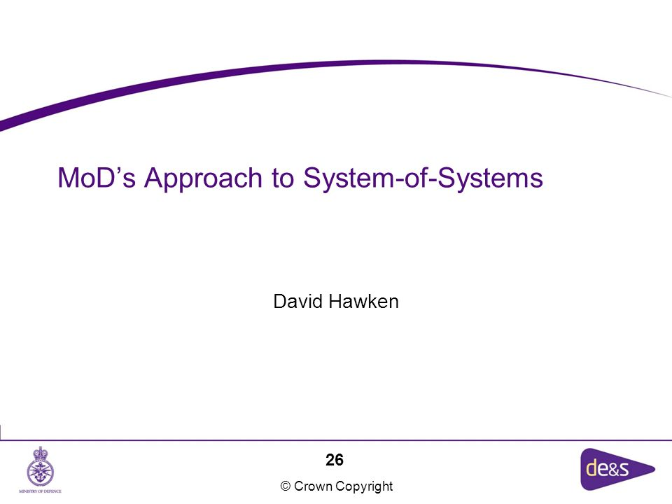 MoD's Approach to System-of-Systems
