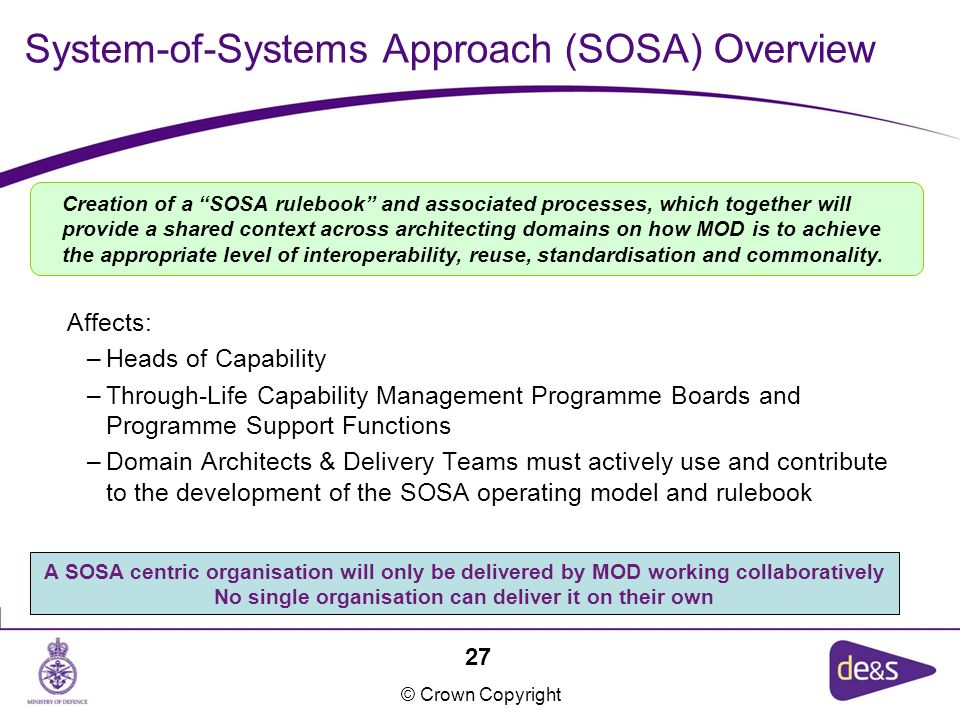 System-of-Systems Approach (SOSA) Overview