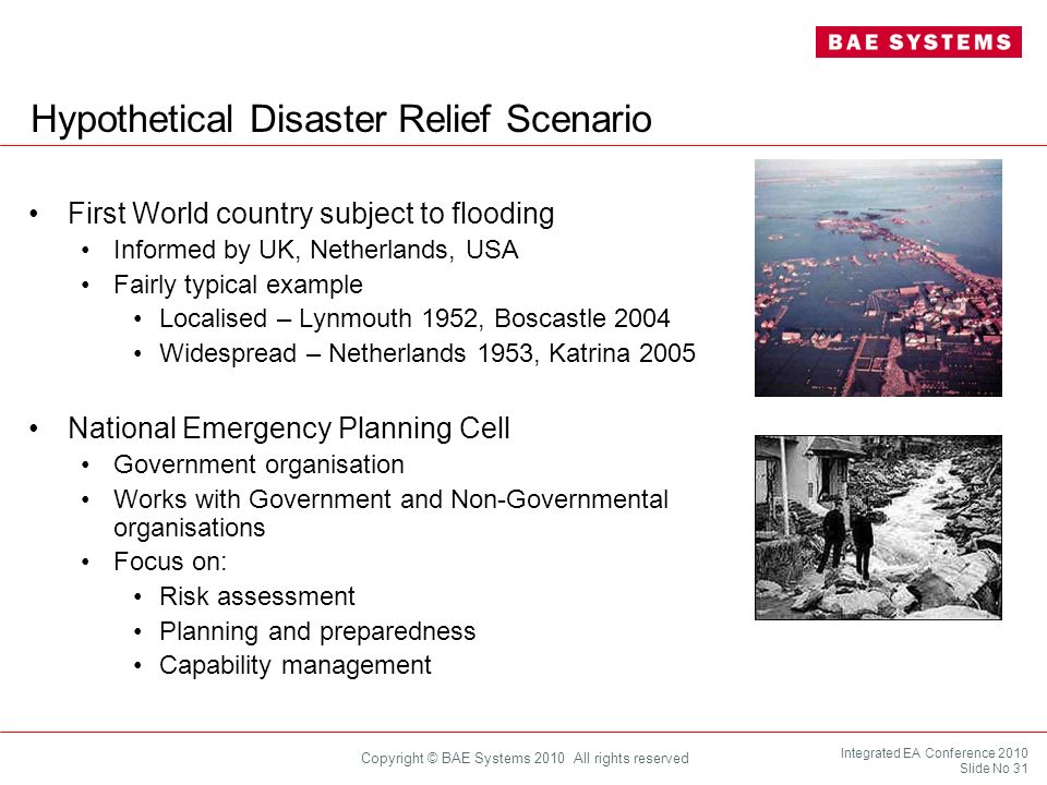 Hypothetical Disaster Relief Scenario