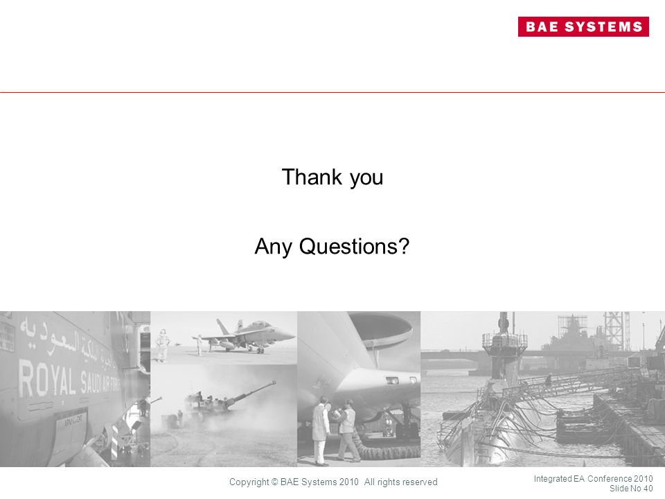Copyright © 2010 BAE Systems. All rights reserved.