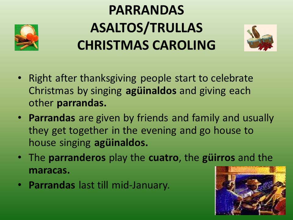 parrandas asaltostrullas christmas caroling - Puerto Rican Christmas Traditions