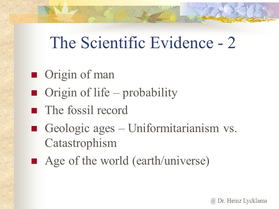 The Scientific Evidence - 2